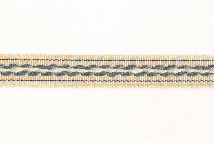 Cable Tape Blue on Beige