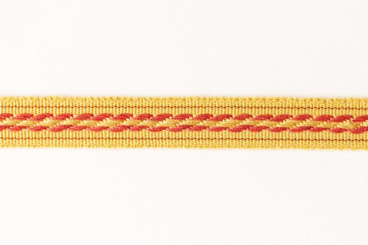 Cable Tape Red on Gold
