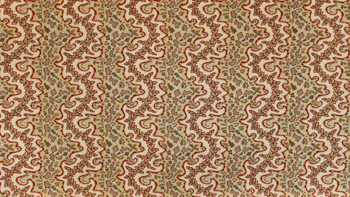 Adolphus Paisley Red & Gold on Tan