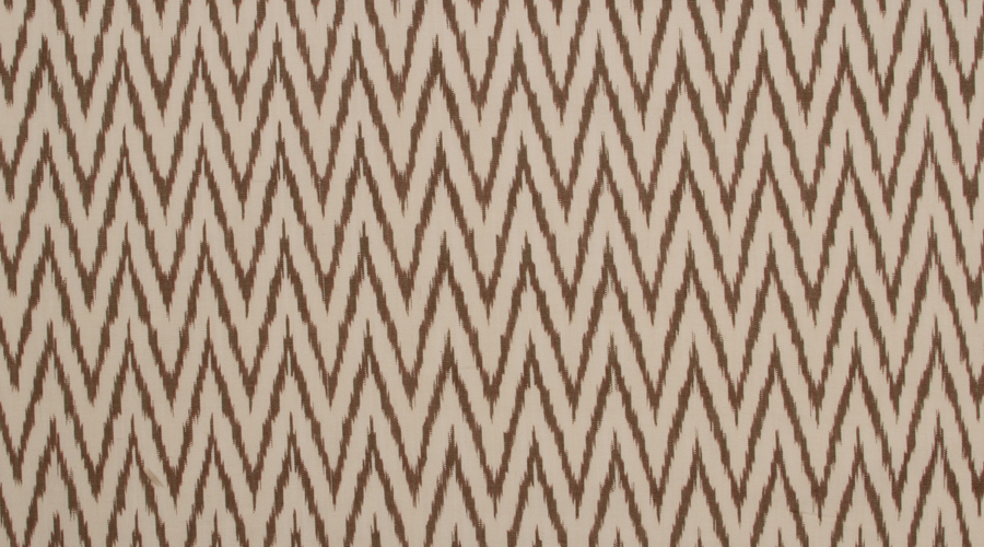 Chevron Ikat Brown