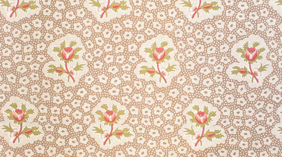 Rose Medallions Brown