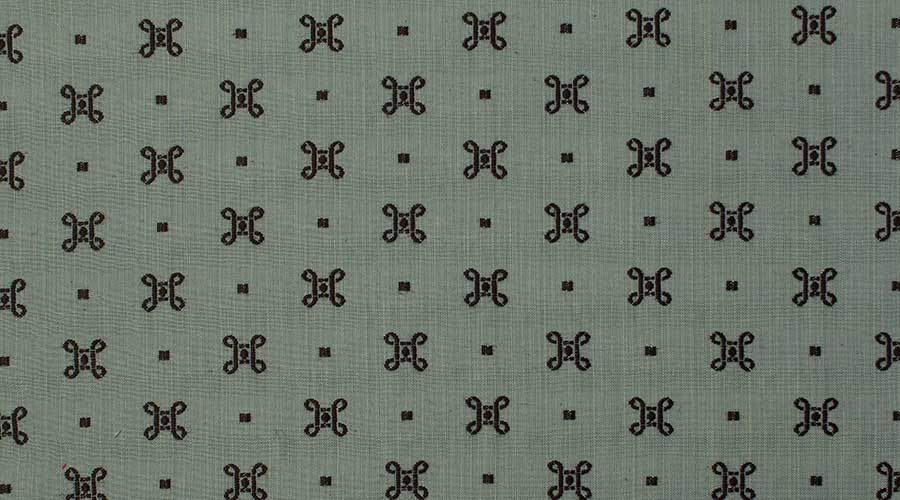 Georgian Embroidered Motif Blue