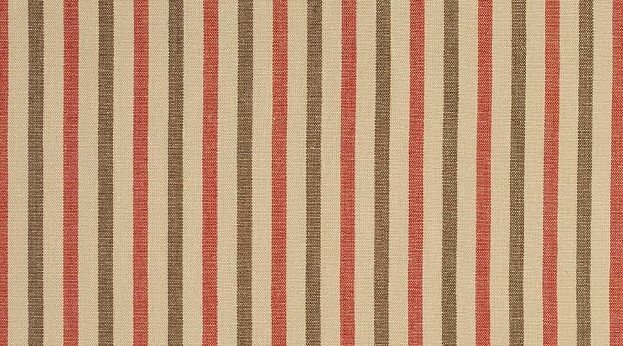 Birmingham Stripe Red Brown