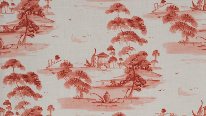 Toile Plate Coral
