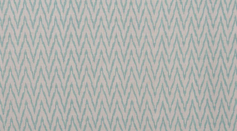 Flame Stitch Ikat Print Aqua