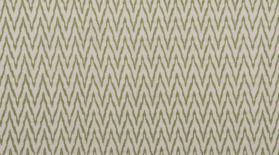 Flame Stitch Ikat Print Green