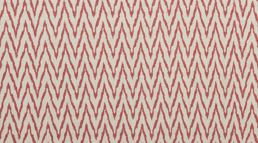 Flame Stitch Ikat Print Red