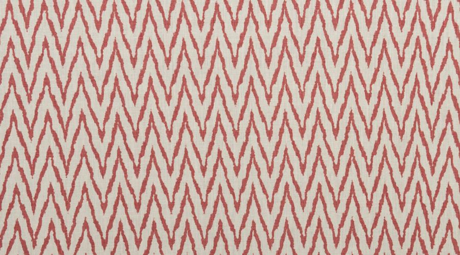 Flame Stitch Ikat Print Red