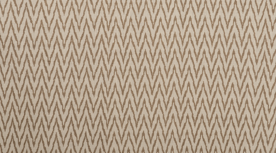 Flame Stitch Ikat Print Neutral