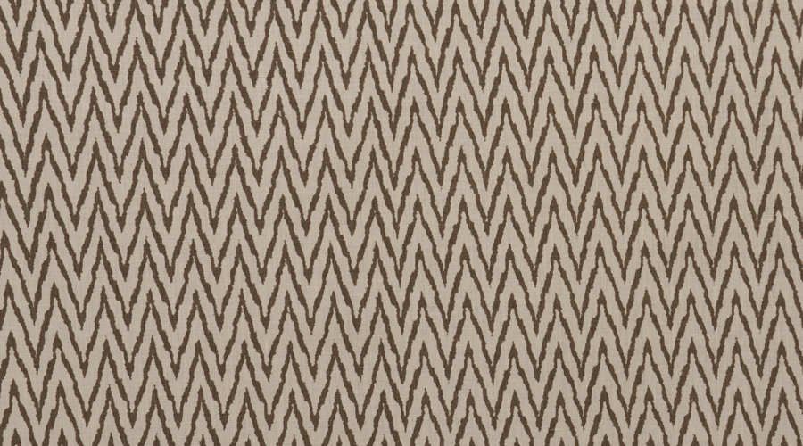 Flame Stitch Ikat Print Brown